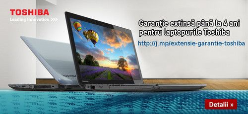 Garantie extinsa la laptop-urile Toshiba