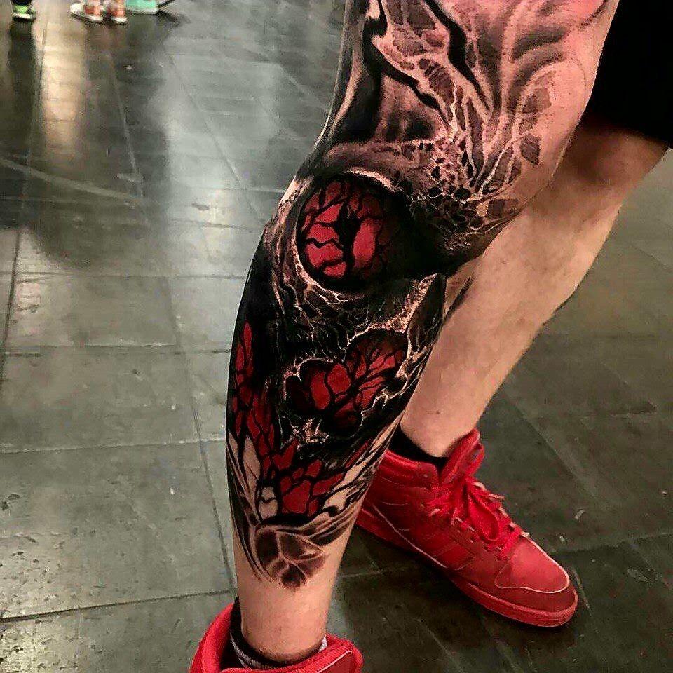 тату на ноге мужские фото эскизы цветные записью хочу