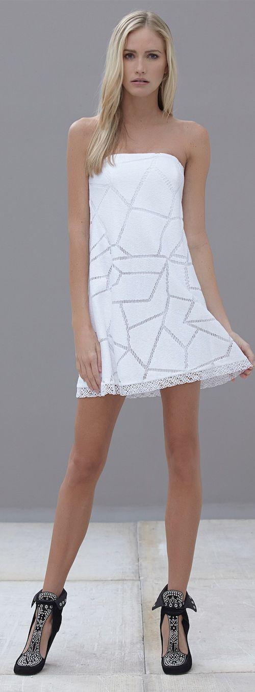 Alexis from HauteLook Kerensa Strapless dress