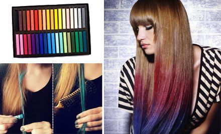 I've been wanting to try hair chalk forever! Only $19 and that includes shipping! Awesome!
