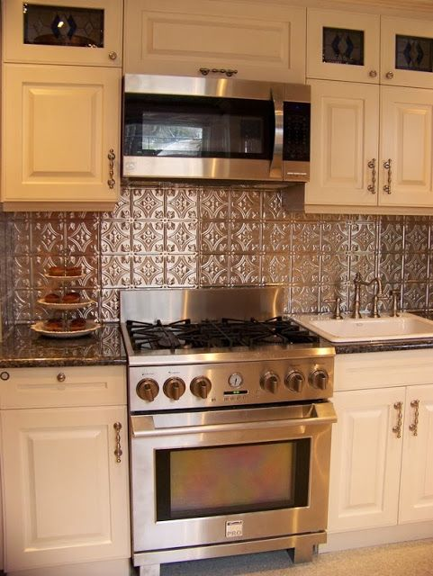Faux Tin Kitchen Backsplash Tips Build Tin Kitchen Backsplash
