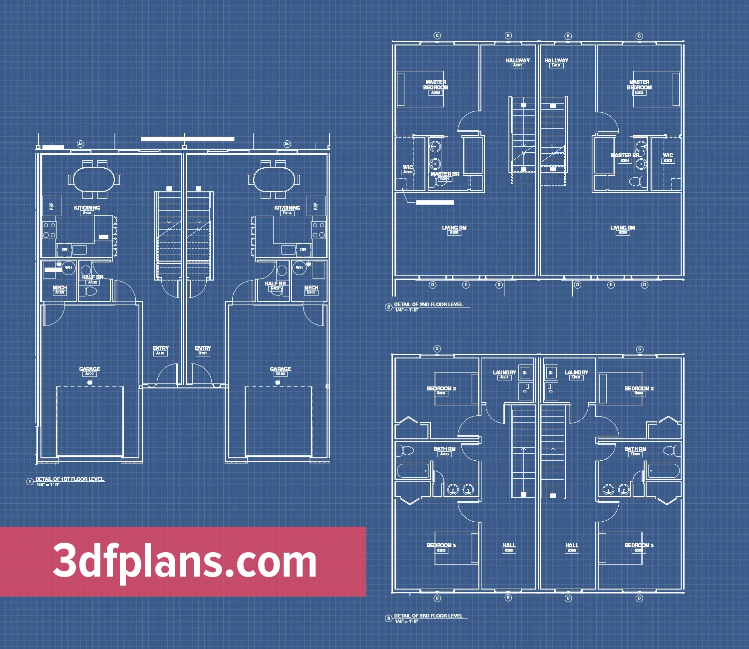 Pin On 3 Story Apartment 3d Floor Plans
