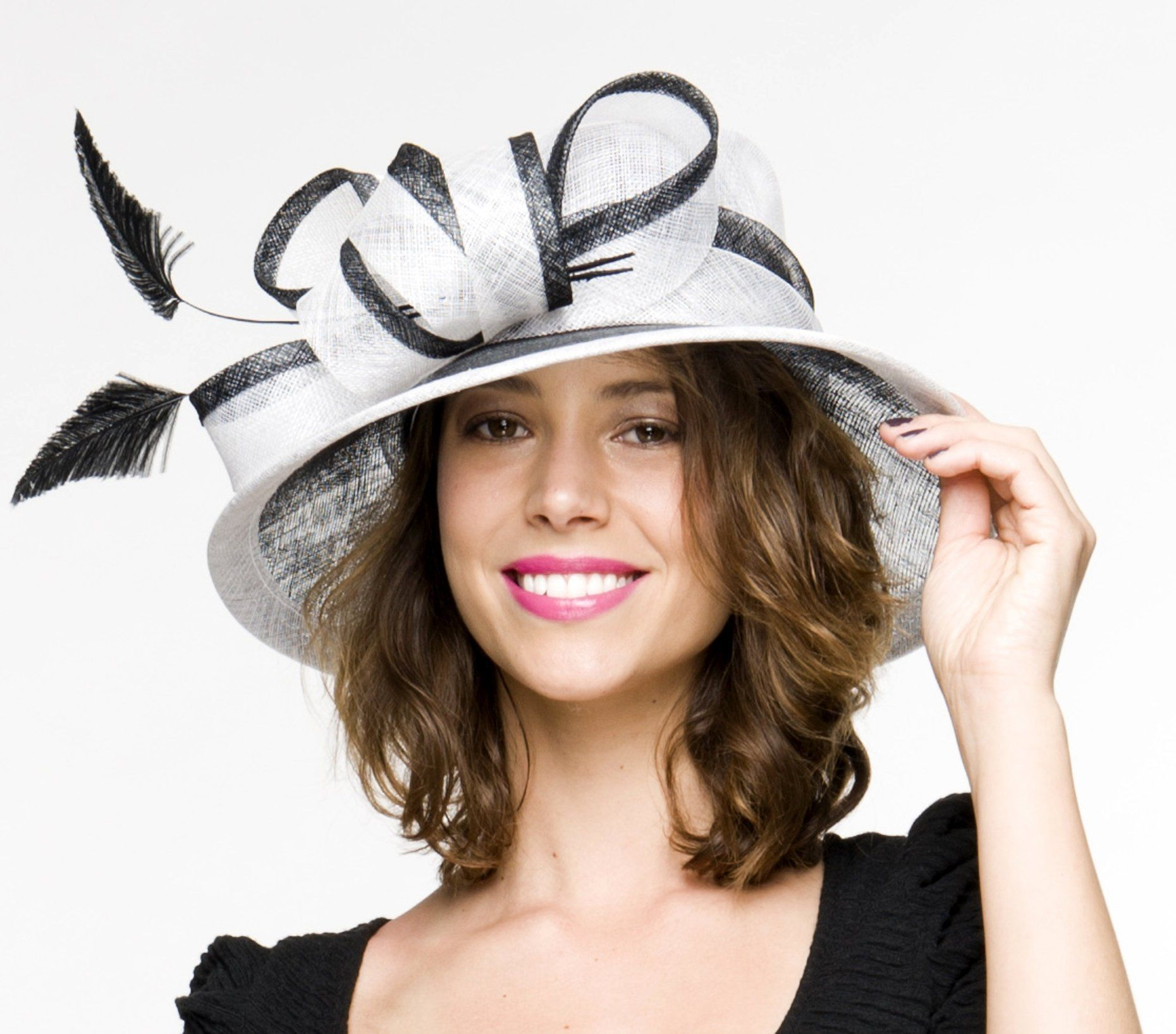 fdb96c2d1421a  71 USD at theheadwearboutique.com - SALE item  Margot Black and White Derby  Hat