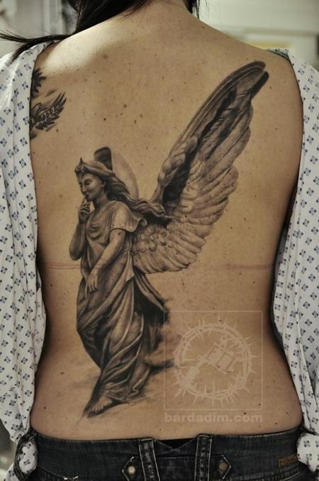 Realistic Angel Wings Tattoo Angel tattoo | Greatest Angel Tattoos ...