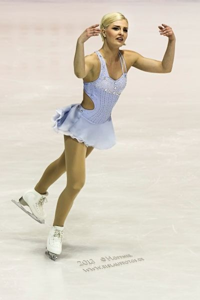 Viktoria Helgesson,-Blue Figure Skating / Ice Skating dress inspiration for Sk8 Gr8 Designs.