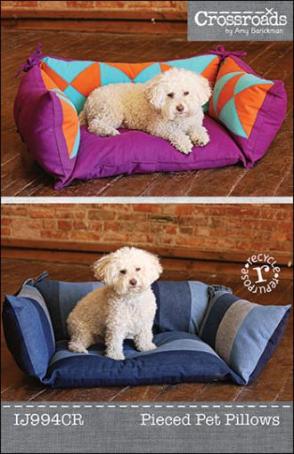 Pieced Pet Pillows ePattern PDF | Sewing Pattern | YouCanMakeThis.com