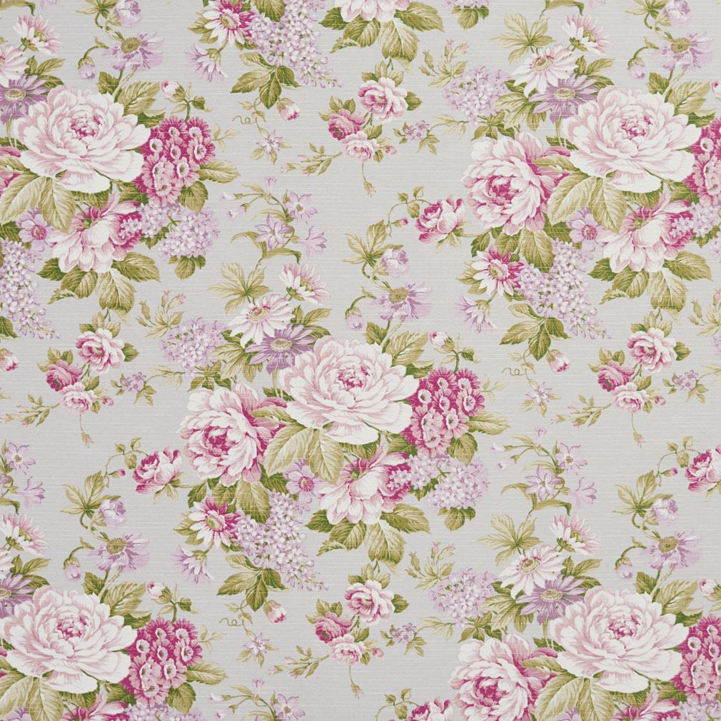 Essentials Botanical Ivory Pink White Hot Pink Mauve Green Rose
