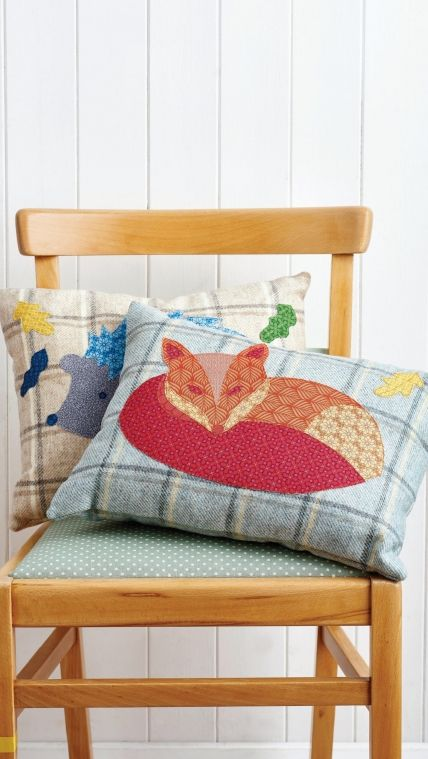 Woodland cushions sewing project