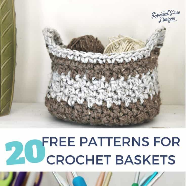 20 Free Crochet Basket Patterns | Crochet~home | Pinterest | Croché ...