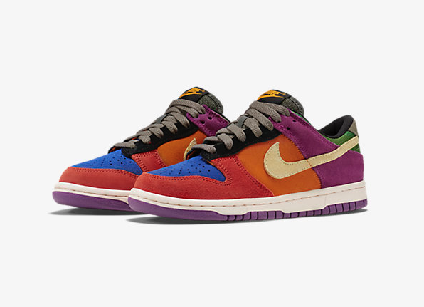 sports shoes 9858f b2706 The Nike Dunk Low GS Viotech edition is now available for purchase at Nike  retailers for a price tag of 80.
