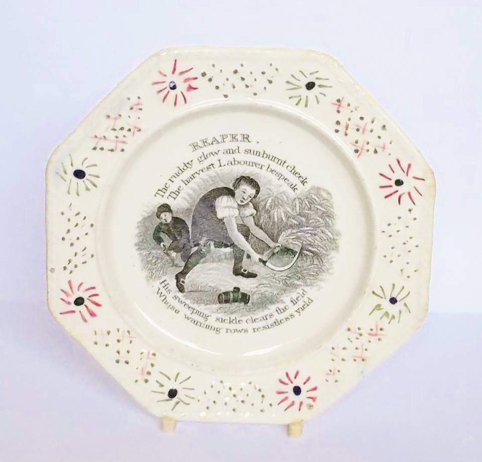 Antique English Creamware ? plate