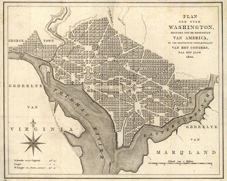 Washington D C City Plans Georgetown Historic