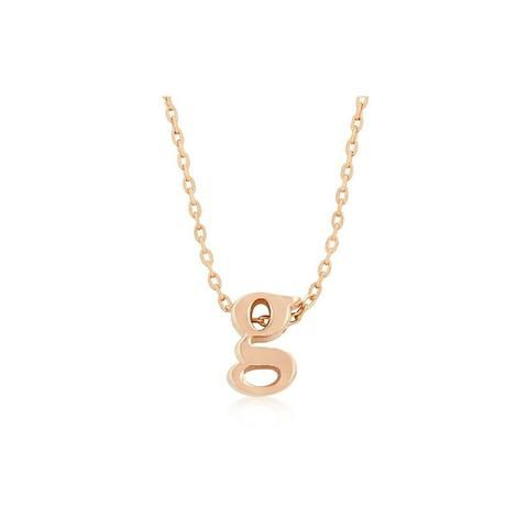 Initial g rose gold pendant laveliq laveliq necklace pinterest initial g rose gold pendant laveliq aloadofball Image collections