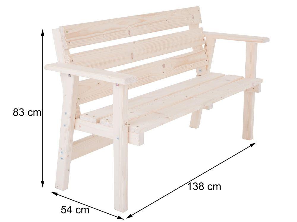 59832 Drewniana Lawka Lawa Ogrodowa 138x54x83 Cm 7373761356 Oficjalne Archiwum Allegro Outdoor Decor Furniture Outdoor Furniture