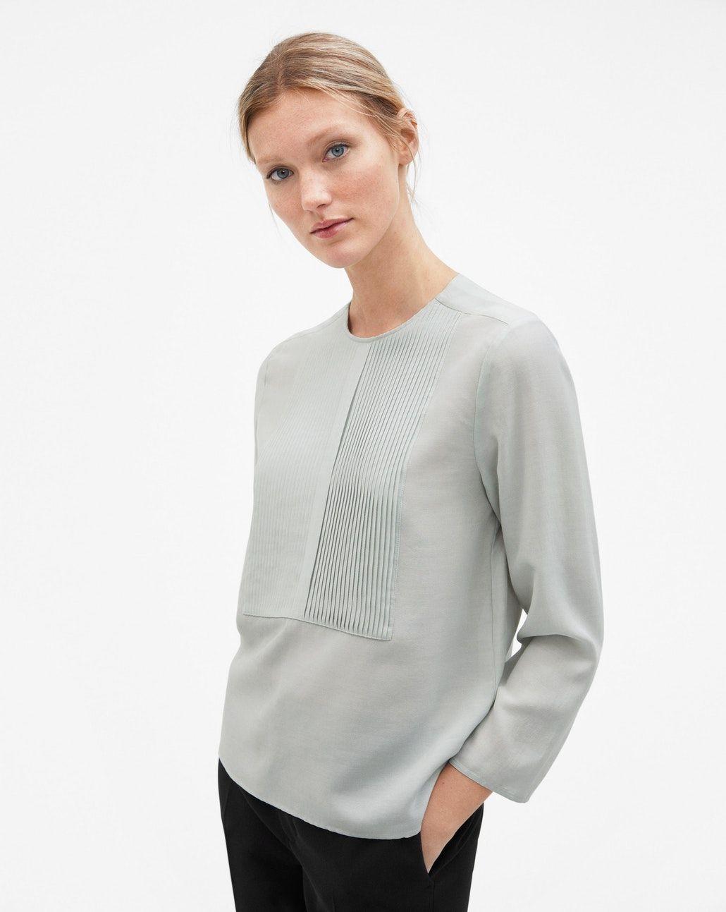 b800c0e83288 Pleat Blouse Aqua - Shirts & Blouses - Woman - Filippa K | Wardrobe ...