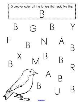 stamp the letters alphabet recognition printables for preschool pre k preschool prek and. Black Bedroom Furniture Sets. Home Design Ideas