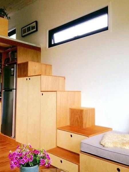 Extra-wide modern tiny house comes with a pop-out reading nook ... on types of house designs, not so big house designs, tiny concrete house designs,