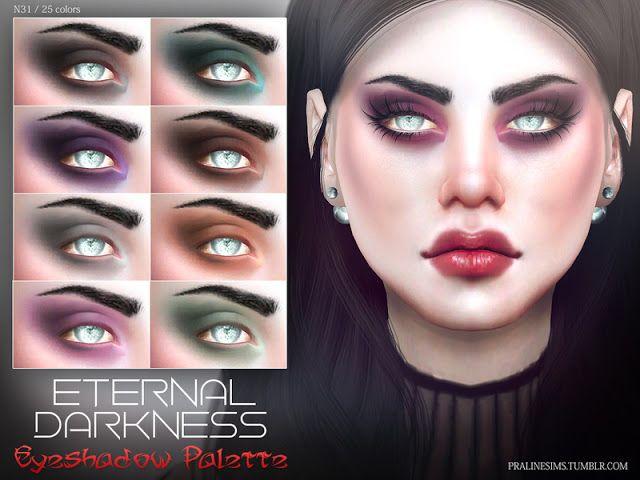 Sims 4 CC's - The Best: Eternal Darkness Eyeshadow by Pralinesims