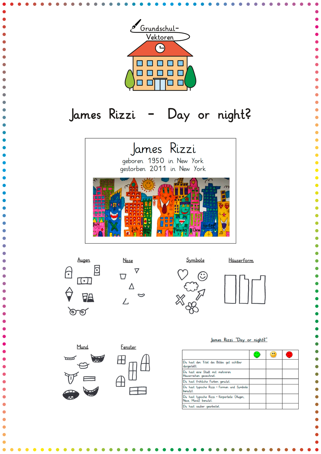 james rizzi  day or night  unterrichtsmaterial in den