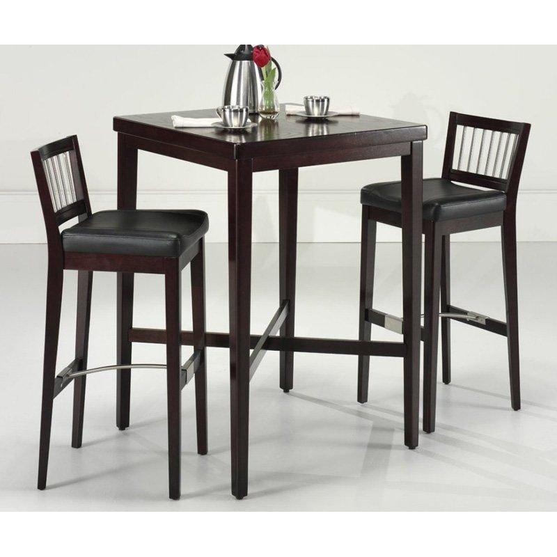 Home Styles 3 Piece Cherry Square Pub Set  Pub Tables At Endearing Cheap Dining Room Sets Under 100 Decorating Inspiration