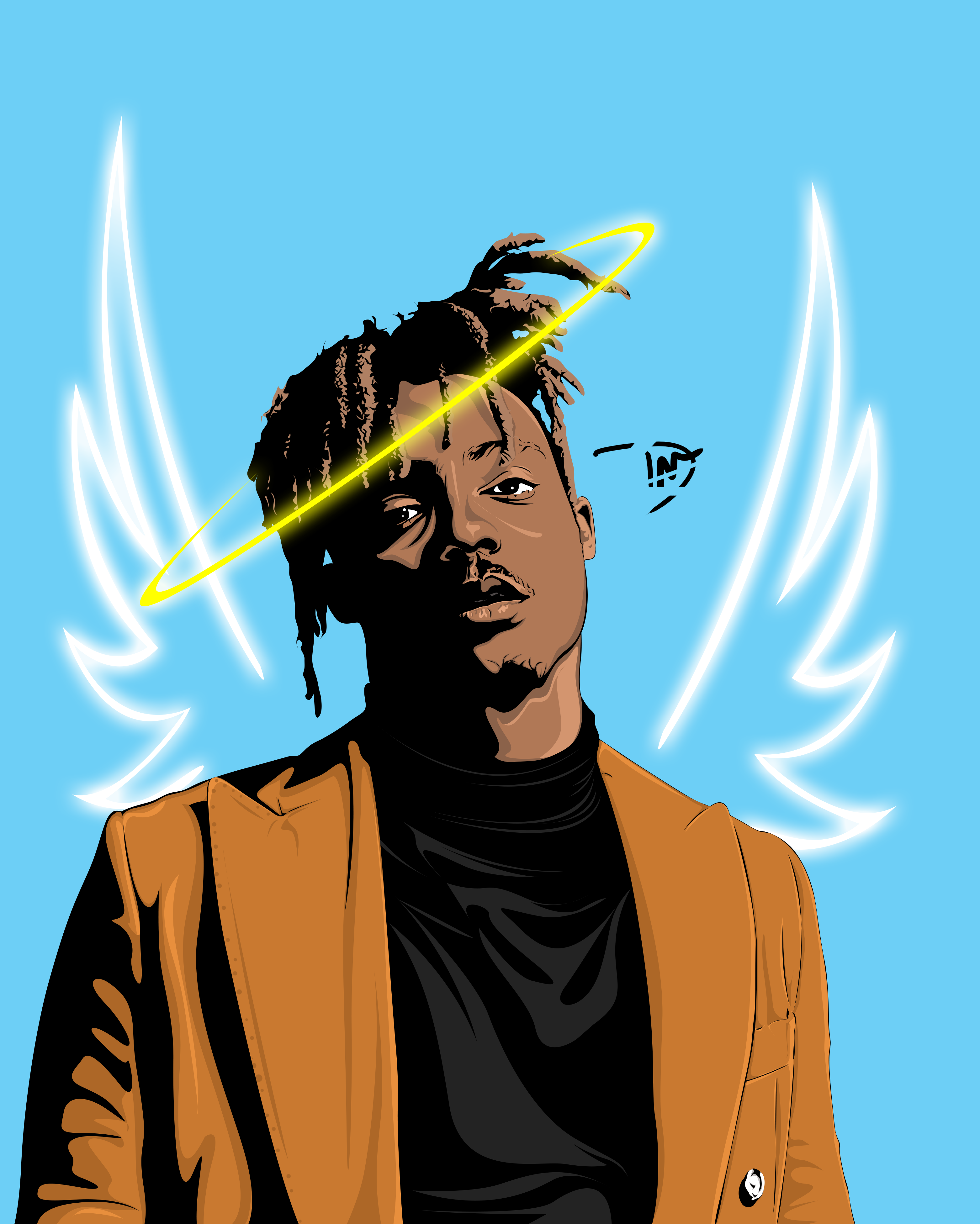 Juice Wrld Vector Illustration Rapper Art Illustration Hip Hop Art