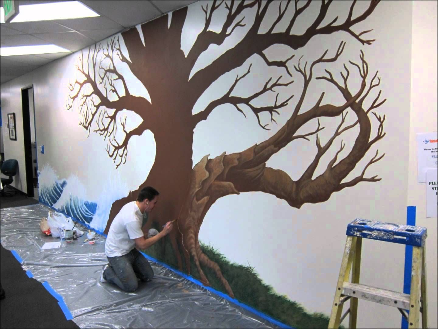 Local Splash Family Tree Mural Project   YouTube Part 37