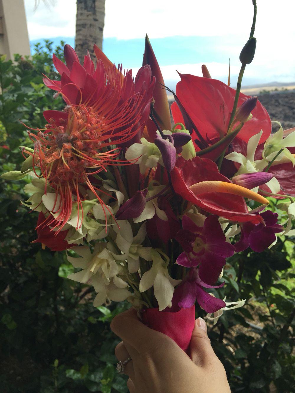 My Tropical Hawaiian Flowers Bouquet Dyi Tropical Wedding