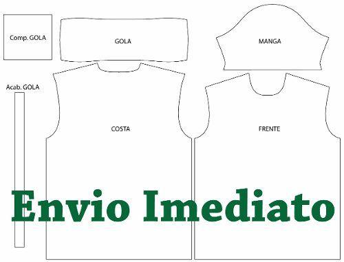 755e3053d0 Molde Camisa Polo Masculina Feminina - Costura E Sublimação - R  29 ...