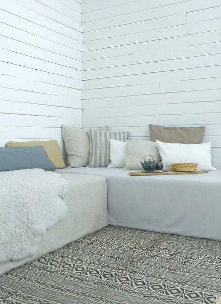 Ladda ner Överdrag till dagbädd - Unbleached Linen guest room