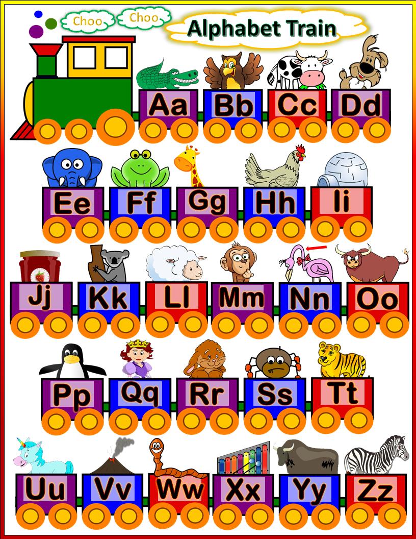 Alphabet Train Preschool Alphabet Train Trains Preschool Alphabet Train Craft [ 1056 x 816 Pixel ]