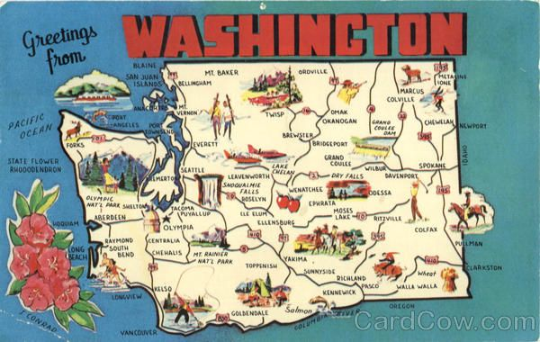 My Favorite places in Washington State – Seattle Washington Map Tourist