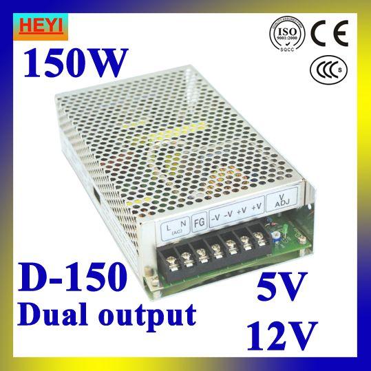 Dual Output Switching Power Supply 5v 12v 100 120v 200 240v Input Led Power Supply 150w 5v 12v Transformer Led Power Supply 12v Transformer Power Supply
