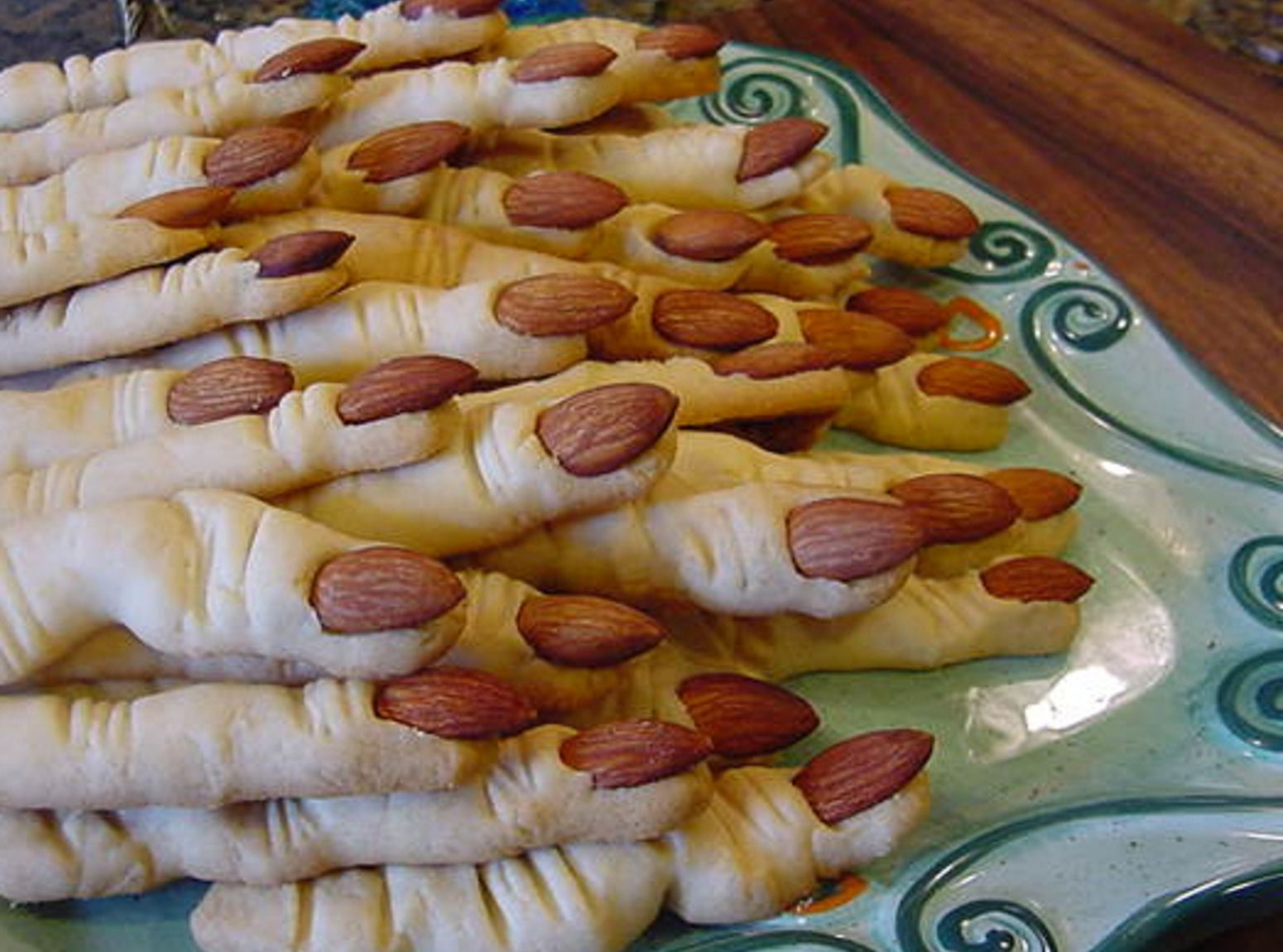 Halloween Witch Finger Cookies.Bonnie S Spooky Witches Fingers Recipe Halloween Food For Party Witch Finger Cookies Halloween Snacks