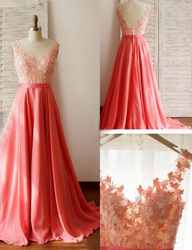 Coral cheap wedding dresses