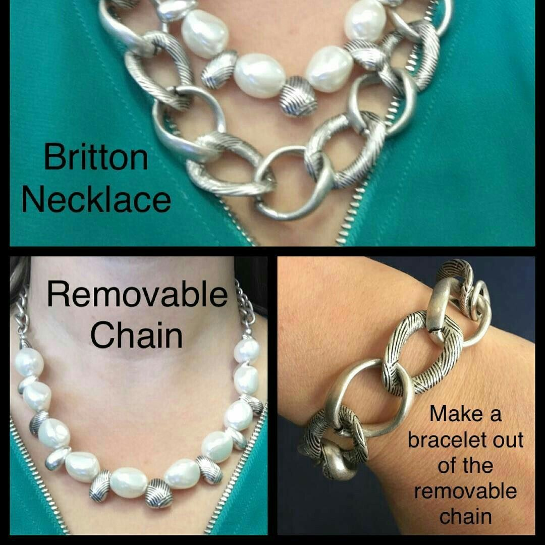 Britton versatility silver jewelry and faux pearls jewelry tips