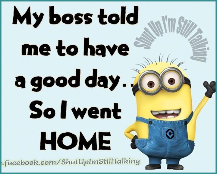 Funny Boss Quotes Funny Quotes: My Boss Told Me To Have A Good Day So I Went Home  Funny Boss Quotes