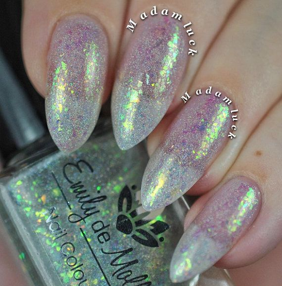 Nail polish Fancy Sauce iridescent flakes and by EmilydeMolly | Love ...