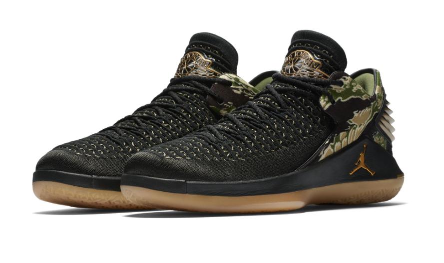 Official Look At The Air Jordan 32 Low GS Camo