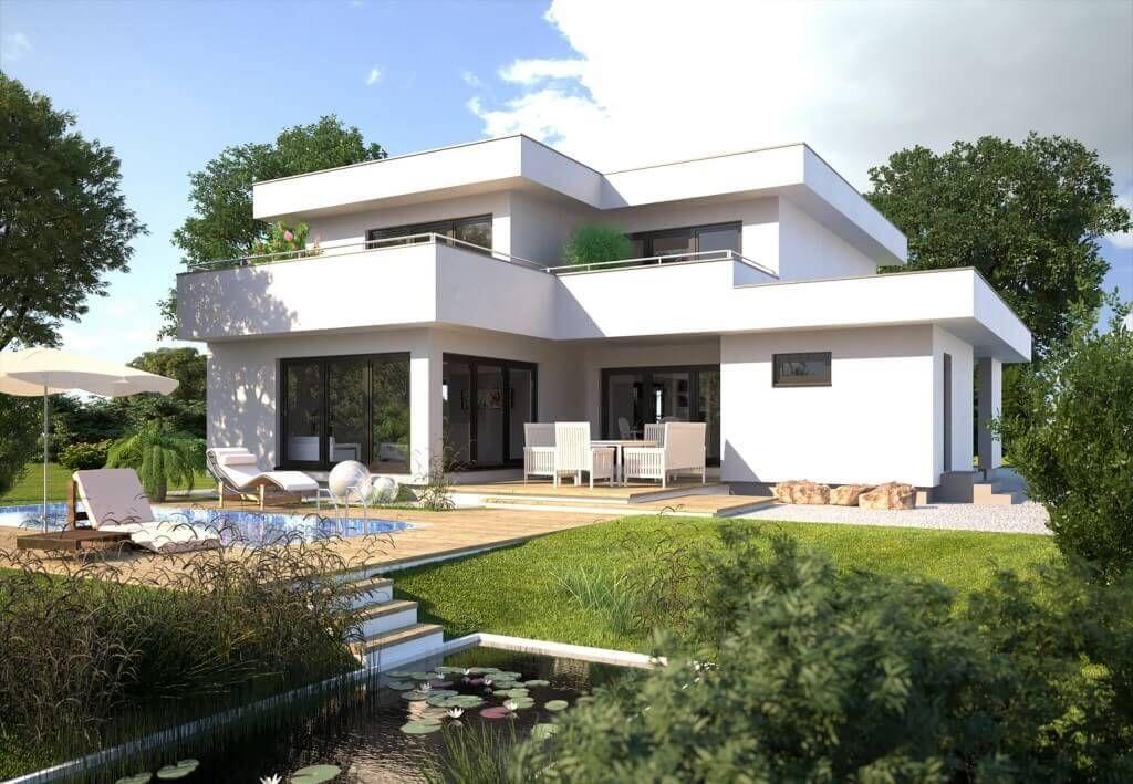 Modernes Haus Im Bauhausstil Fassade Weiß   Hanlo Hommage 246   Hanlo Haus
