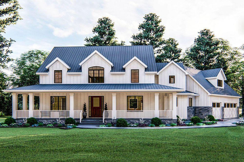 6 modern farmhouse exterior one story wrap around porches