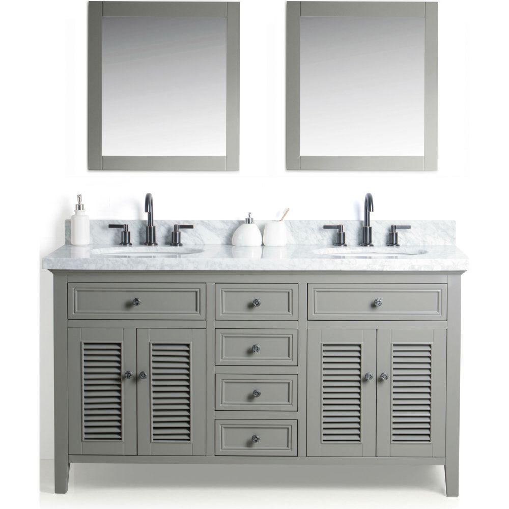 Legion Furniture WS2160-G WS Gray Double Basin Bathroom Vanity Sets ...