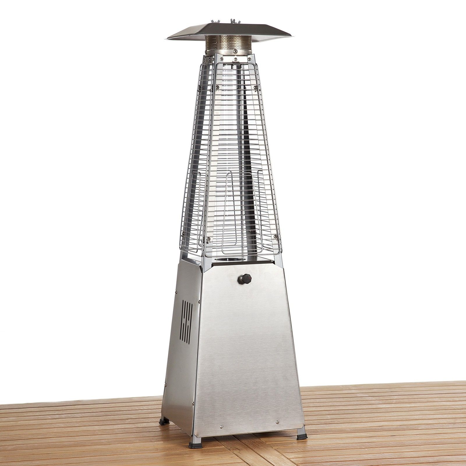 Table Top Living Flame Gas Patio Heater Stainless Steel