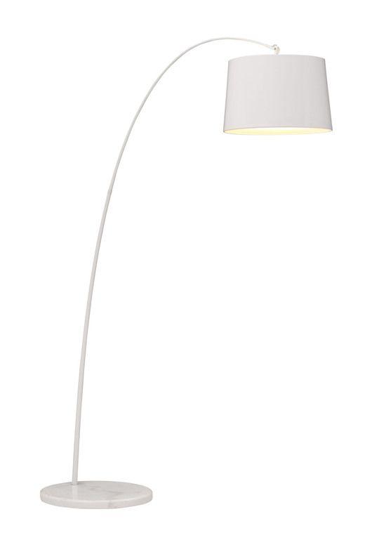 Zuo modern 50062 twisty floor lamp in white w in white base