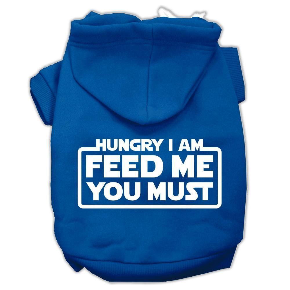 Hungry I Am Screen Print Pet Hoodies Blue Size XXL (18)
