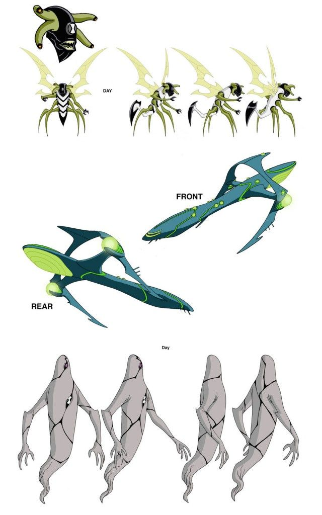 Artes para o seriado Ben 10, por Dave Johnson | THECAB - The Concept Art Blog