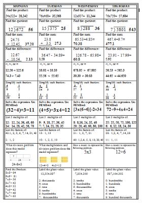 One Stop Teacher Shop BLOG: Spiral Math Homework to Reinforce the ...