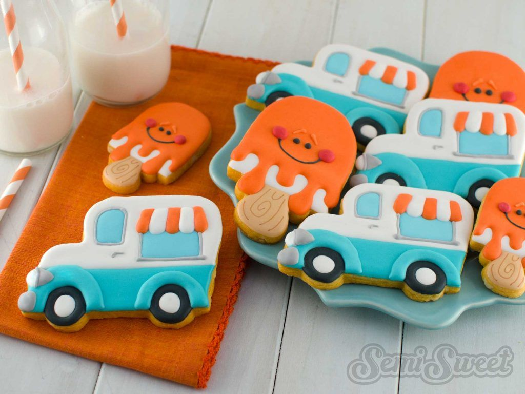 ice cream truck cookies by Semi Sweet Designs