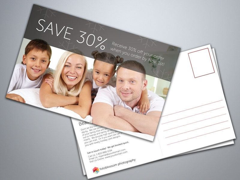 5 Free Postcard Templates For Photographers Free Postcards