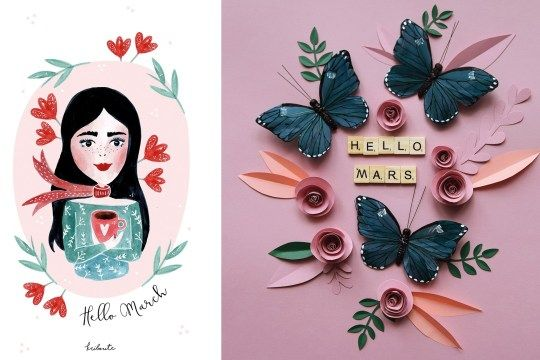 DIY coeur papier + petit mot d'amour | Kriboute