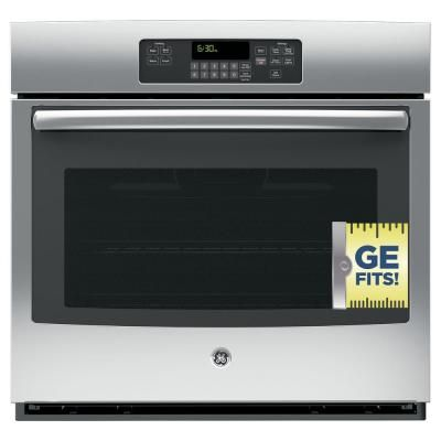 Ge Profile 30 In Electric Convection Wall Oven With Built In